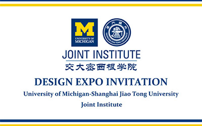 UM-SJTU JI invites you to 2014 Summer Design Expo