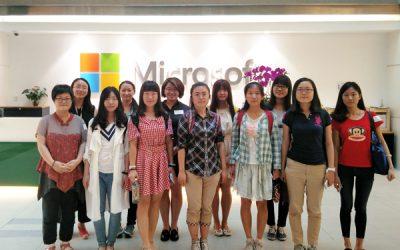 JI women engineers visit Microsoft