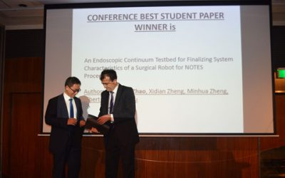 JI Doctoral Student Wins Best Student Paper Award in a Prestigious International Conference