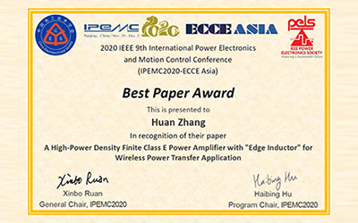 JI student wins Best Paper Award at IEEE conference