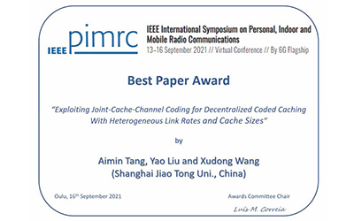 JI research team wins Best Paper Award at IEEE conference
