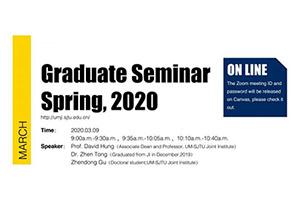 Graduate Seminar-Spring, 2020